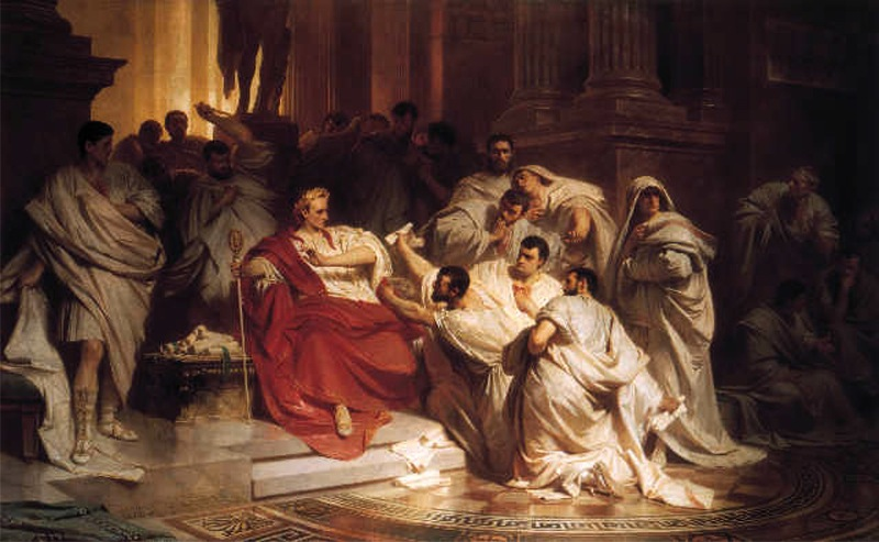 The Death of Caesar by Karl von Piloty