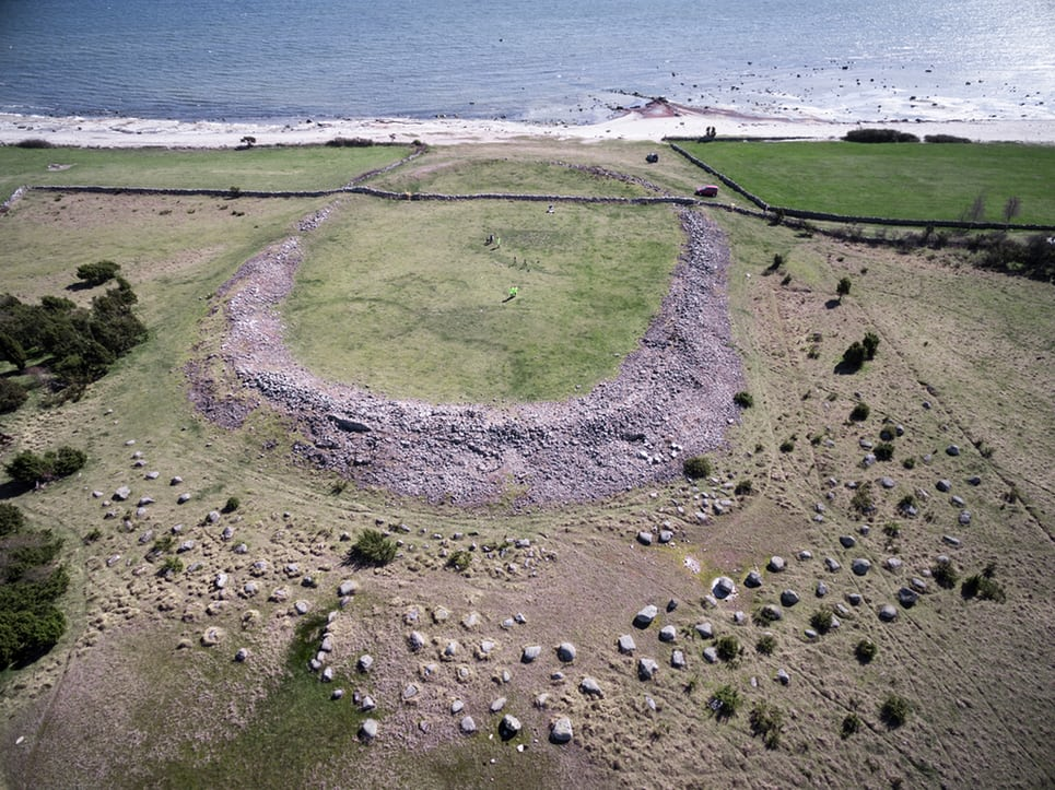 The ring-fort at Sandby Borg