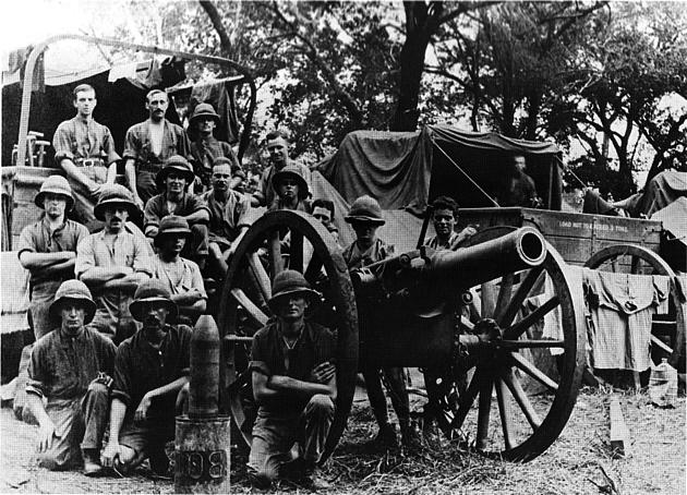 Howitzer and Crew East Africa WWI