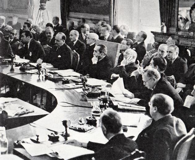 Bruce presiding over the League of Nations Council