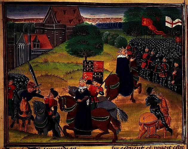 Medieval painting of the peasants revolt