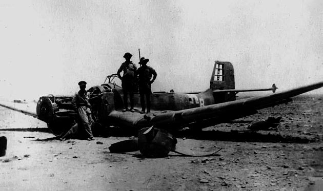 Soldiers with a Junker 87