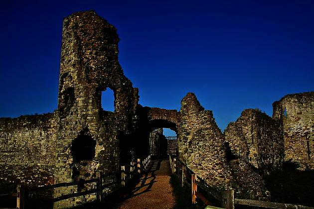 Pevensey Castle by Mark Robinson
