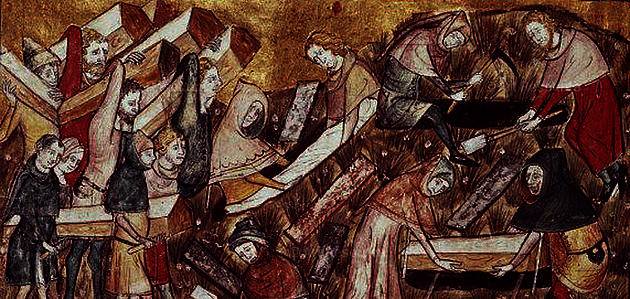 Burial of victims of the Black Death of 1348–9
