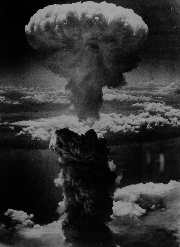 The dropping of the atomic bomb on Nagasaki