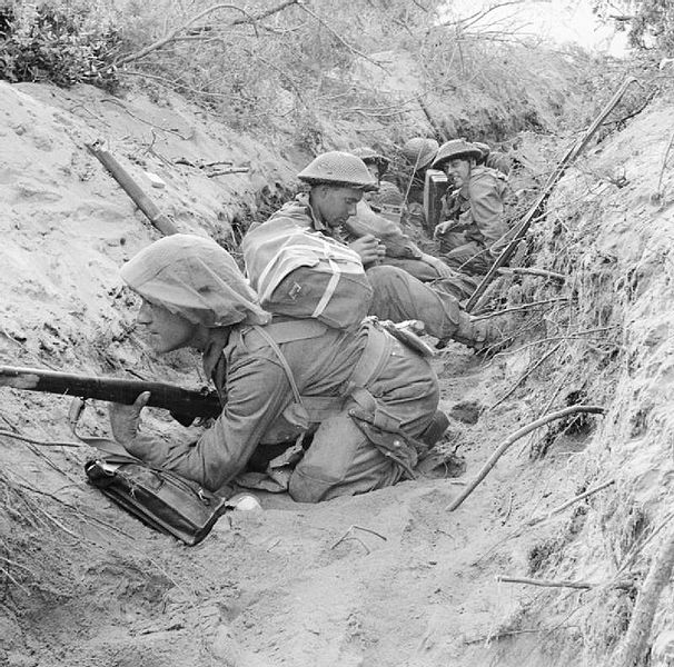 Men of 'D' Company, 1st Battalion The Green Howards, 5th Infantry Division during the offensive at Anzio, 1944