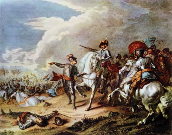 The Battle of Naseby, unknown artist, 17th Century