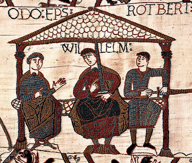 William depicted in the Bayeux Tapestry