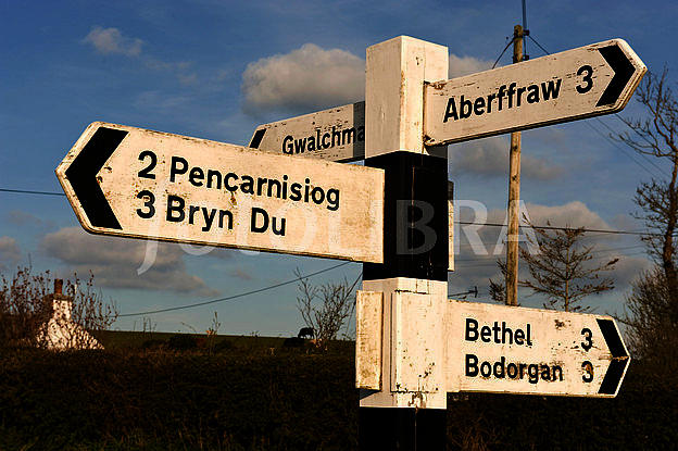 Welsh Wooden Signpost