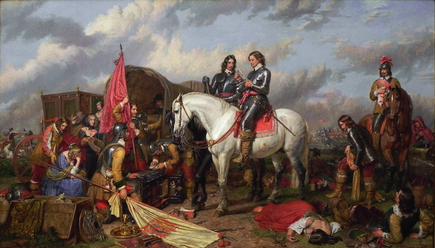 Charles Landseer, Cromwell in the Battle of Naseby, 1851