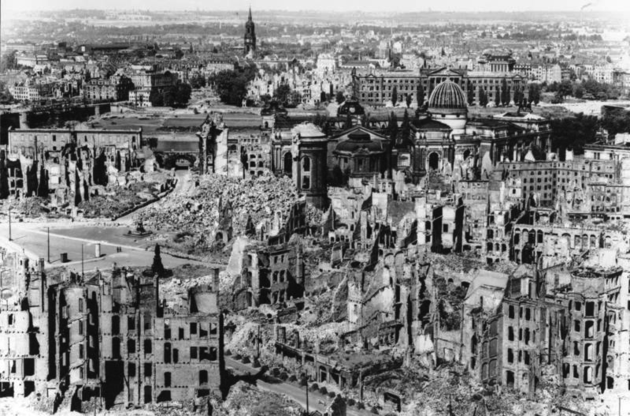 Dresden after the bombing, 1945