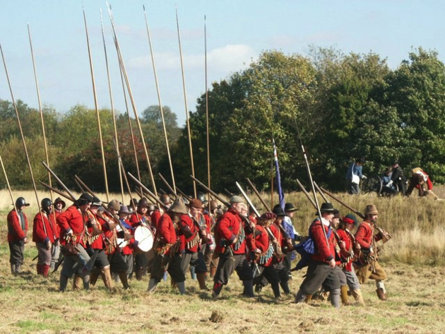 Re-enactment The Siege of Bolingbroke Castle by Dave Hitchborne
