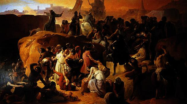 Crusaders Thirsting near Jerusalem by Francesco Hayez, 1836-1850