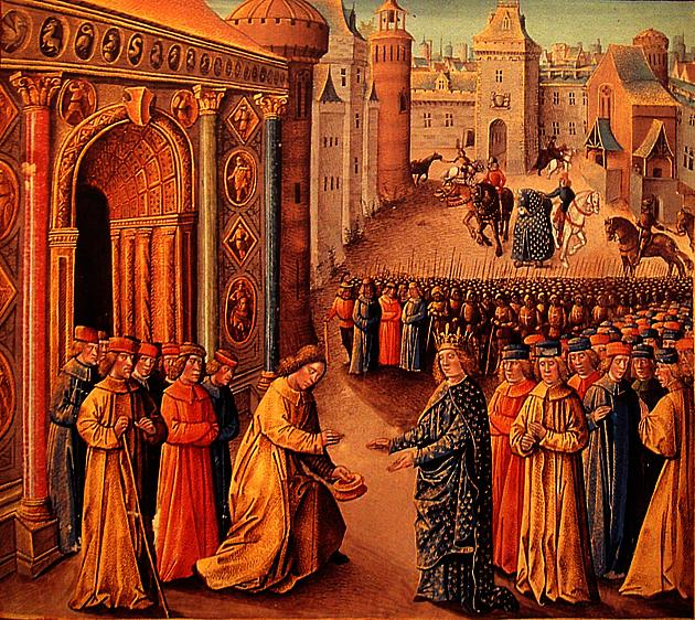 Raymond Of Poitiers Welcoming Louis VII in Antioch