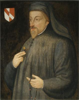 Geoffrey Chaucer painting, 17th century